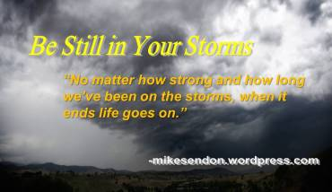 Be Still in your storms 5